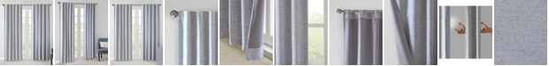 "510 Design Ebon 38"" x 63"" Woven Heathered Total Blackout Curtain Panel Pair"
