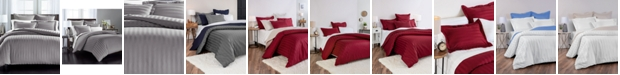 """Charter Club 1.5"""" Stripe 100% Supima Cotton 550 Thread Count 2 Pc. Duvet Cover, Twin, Created for Macy's"""
