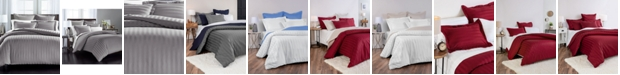 "Charter Club 1.5"" Stripe Supima Cotton 550-Thread Count 2-Pc. Twin Duvet Cover, Created for Macy's"