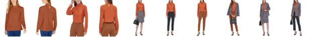 Calvin Klein Mock-Neck Long-Sleeve Top