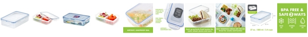 Lock n Lock Easy Essentials On the Go Divided Rectangular 27-Oz. Food Storage Container
