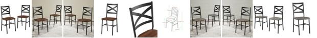 Walker Edison Industrial Wood Dining Chair, Set Of 2