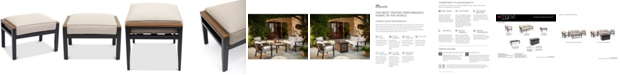 Furniture Stockholm Outdoor Ottoman with Sunbrella® Cushion, Created for Macy's