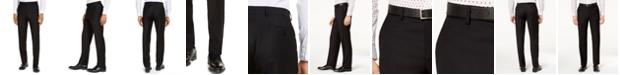 Michael Kors CLOSEOUT! Men's Classic-Fit Airsoft Stretch Black Solid Suit Pants