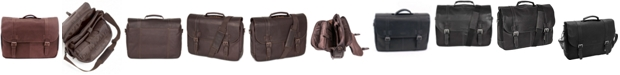 Ben Sherman Colombian Leather Flapover Laptop  Bag