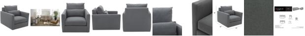 Furniture Elmie 34'' Fabric Armchair, Created for Macy's