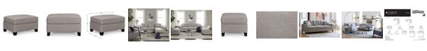 "Furniture Clarke II 32"" Fabric Ottoman, Created for Macy's"