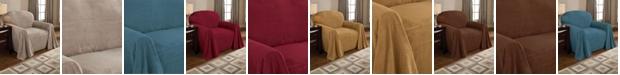 P/Kaufmann Home Coral Fleece Throw Chair Slipcover