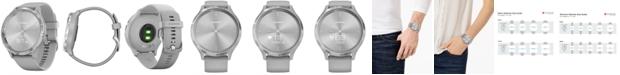 Garmin Unisex vívomove 3 Style Gray Silicone Strap Hybrid Touchscreen Smart Watch 44mm