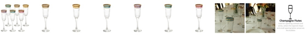Lorren Home Trends Flute Melania Collection - Set of 6