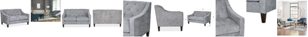 "Furniture Chloe II 54"" Fabric Loveseat"