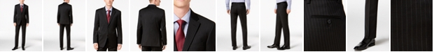Tommy Hilfiger Men's Modern-Fit THFlex Stretch Black Pinstripe Suit Separates