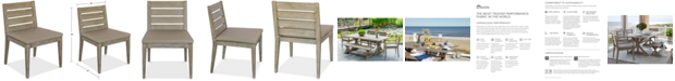 Furniture CLOSEOUT! Hadley Outdoor Dining Chair with Sunbrella® Cushion, Created For Macy's