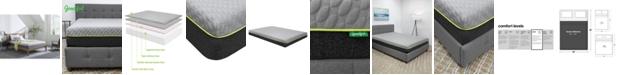 "Goodful 10"" Bamboo Charcoal Memory Foam Plush Mattress- Queen, Quick Ship, Mattress in a Box"