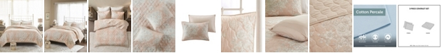 Madison Park Gloria Full/Queen 3-Pc. Cotton Printed Reversible Quilted Coverlet Set