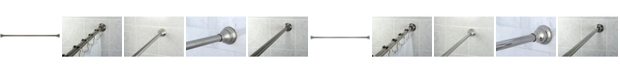 Kingston Brass 72-inch Tension Shower Rod with Decorative Flange