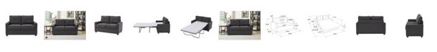 Lifestyle Solutions Pullman Loveseat Sleeper With Memory Foam Mattress Twin