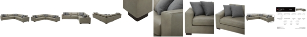 """Furniture Chelby 3-Pc. Leather """"L"""" Shaped Sectional Sofa"""