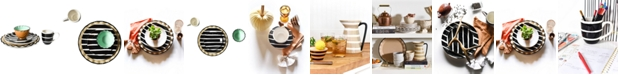 Coton Colors by Laura Johnson Black Plank Dinnerware Collection