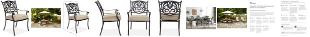 Furniture Chateau Aluminum Outdoor Dining Chair with Sunbrella® Cushion, Created for Macy's