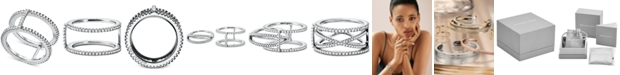 Michael Kors Women's Custom Kors Sterling Silver Pavé Nesting Ring Jacket