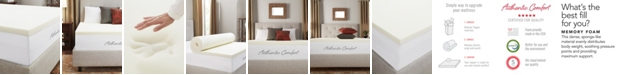 """Authentic Comfort 1.5"""" Breathable Memory Foam Full Mattress Topper"""