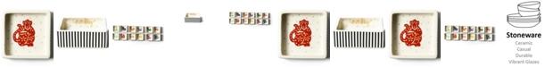 Coton Colors by Laura Johnson Chinese Zodiac Monkey Square Trinket Bowl