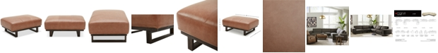 "Furniture CLOSEOUT! Laser 39"" Leather Cocktail Ottoman"
