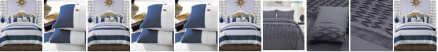 Superior Addison 300 Thread Count Cotton Embroidered Duvet Cover Set - Twin/Twin XL