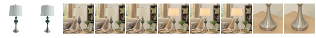 """Crestview Collection 29"""" Metal and Glass Table Lamp"""