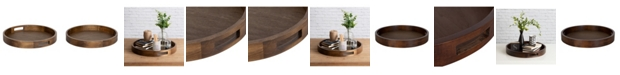 """Kate and Laurel Hutton Round Wood Tray - 18.25"""" x 18.25"""""""