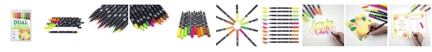 Tombow Dual Brush Pen Art Markers, Citrus, 10-Pack