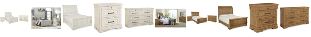 Klaussner Trisha Yearwood Coming Home Sleigh Bedroom Collection 3-Pc. Set (Queen Bed, Nightstand & Dresser)
