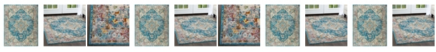 Nicole Miller  Parlin Amara Teal Blue Area Rug Collection