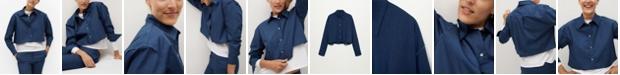 MANGO Women's Cropped Cotton Shirt
