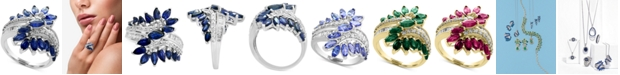 EFFY Collection EFFY® Sapphire  (2 ct. t.w.) & Diamond (3/8 ct. t.w.) Ring in 14k White Gold (Also available in Tanzanite in 14k White Gold and Sapphire, Ruby or Emerald in 14k Gold)