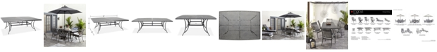 """Furniture Vintage II 84"""" x 60"""" Outdoor Dining Table, Created for Macy's"""