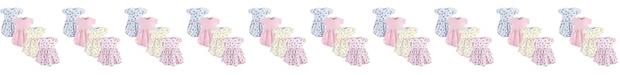 Luvable Friends Cotton Dress, 4-Pack, Floral, 0 Months-5T