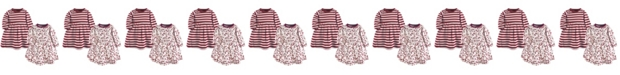 Touched by Nature Baby and Toddler Girls Winter Woodland Youth Long-Sleeve Dresses, Pack of 2