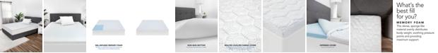 """SensorGel Luxury iCOOL 1.5"""" Gel-Infused Memory Foam King Mattress Topper"""