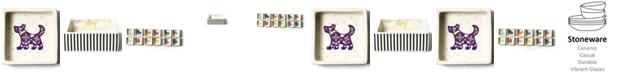 Coton Colors by Laura Johnson Chinese Zodiac Dog Square Trinket Bowl