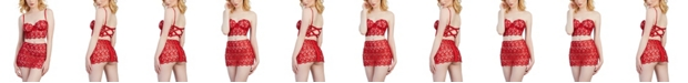 Dreamgirl Venice Embroidery Lace Bustier and Lace Skirt