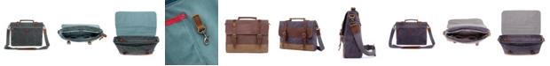TSD BRAND Stone Creek Waxed Canvas Briefcase