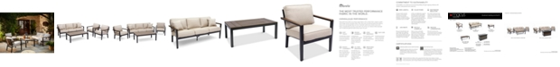 Furniture Stockholm Outdoor 4-Pc. Seating Set (Sofa, 2 Club Chairs & Coffee Table) with Sunbrella® Cushions, Created for Macy's