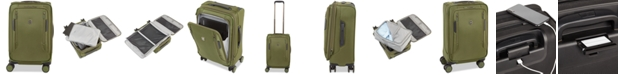 """Victorinox Swiss Army CLOSEOUT! VX Avenue 22"""" Frequent Flyer Softside Expandable Carry-On Suitcase in Olive"""