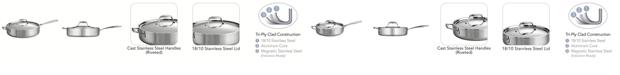Tramontina Gourmet Tri-Ply Clad 3 Quart Covered Deep Sauté Pan