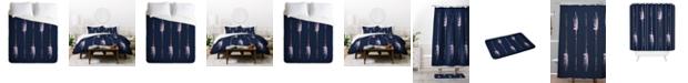 Deny Designs Iveta Abolina Native Blue Arrows King Duvet Set