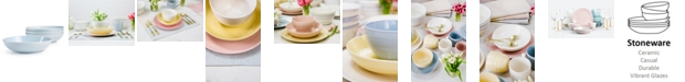 Martha Stewart Collection Color Striping Dinner Bowls, Set of 4, Created for Macy's