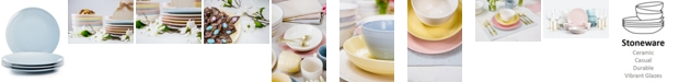 Martha Stewart Collection Color Striping Dinner Plates, Set of 4, Created for Macy's