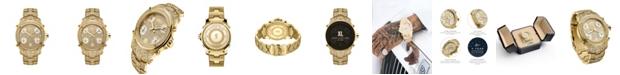 Jbw Men's Jet Setter Platinum Series Diamond (3 ct. t.w.) 18K Gold-Plated Stainless Steel Watch, 50Mm